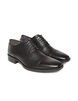 Johnston & Murphy Cap Toe Leather Derby Shoes