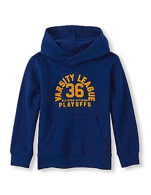 The Children's Place Boys Blue Hooded Popover Sweatshirt