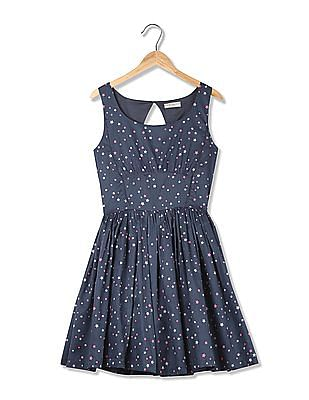 Flying Machine Women Printed Fit And Flare Dress