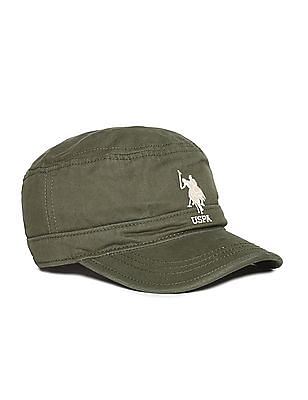 U.S. Polo Assn. Green Embroidered Logo Panelled Cap