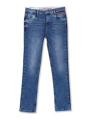 U.S. Polo Assn. Kids Boys Skinny Fit Stone Wash Jeans