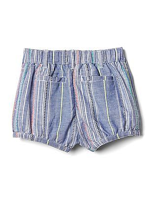 GAP Toddler Girl Texture Stripe Bubble Shorts