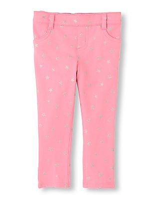 The Children's Place Toddler Girl Star Print Knitted Jeggings