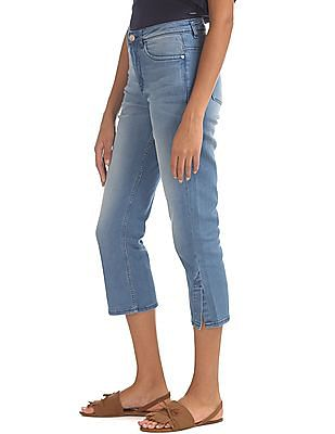 Elle Slim Straight Fit Cropped Jeans