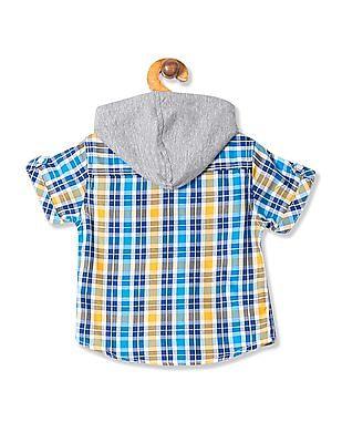 Donuts Boys Hooded Check Shirt