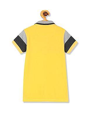 Cherokee Boys Short Sleeve Colour Block Polo Shirt