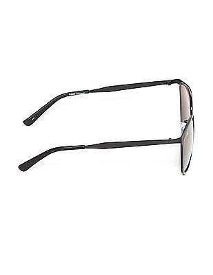 Flying Machine Black Round Frame Mirror Sunglasses