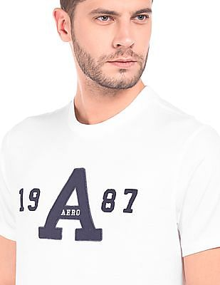 Aeropostale Brand Applique Cotton T-Shirt