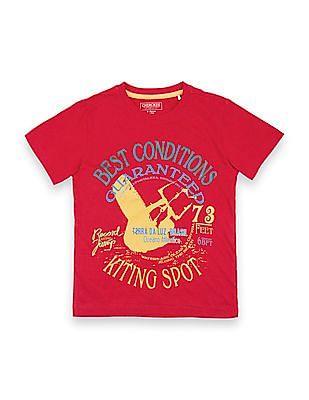 Cherokee Boys Graphic Print Cotton T-Shirt