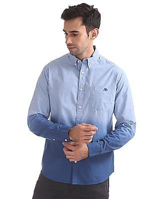 Aeropostale Dip Dyed Button-Down Collar Shirt