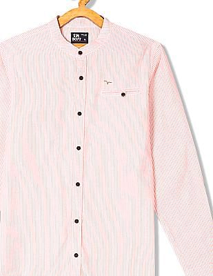 FM Boys Long Sleeve Striped Shirt