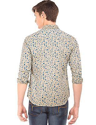 Flying Machine Floral Print Slim Fit Shirt