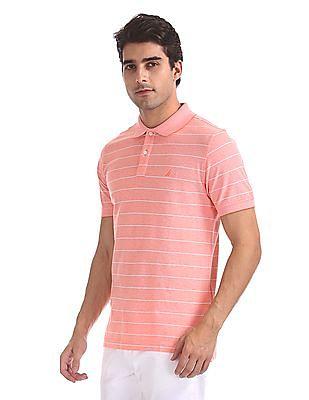 Nautica Short Sleeve Kailua Oxford Pique Yarn Dyed Stripe Polo