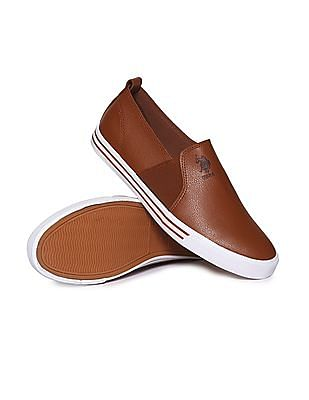 U.S. Polo Assn. Contrast Sole Solid Slip On Shoes