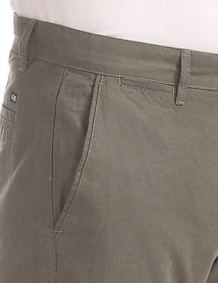 Arrow Sports Slim Fit Cotton Linen Chinos
