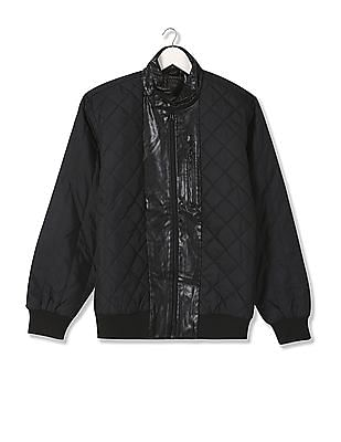 Flying Machine Zipper Front Quilted Jacket