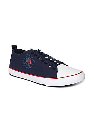 U.S. Polo Assn. Blue Round Toe Canvas Sneakers