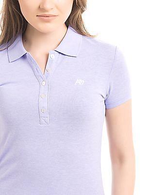 Aeropostale Solid Pique Polo Shirt