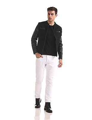 Flying Machine Zip Up Panelled Jacket