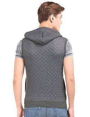 Newport Zip Up Quilted Sweatshirt