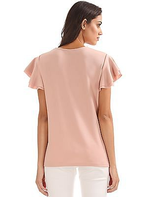 Elle Layered Sleeve Knit Top