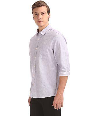 Ruggers Regular Fit Slub Weave Shirt