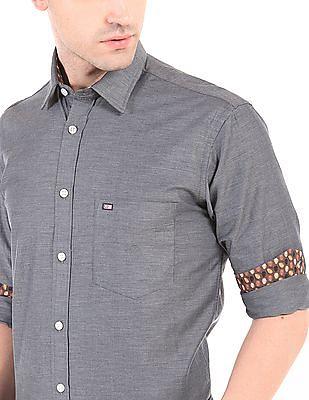 Arrow Sports Long Sleeve Cotton Twill Shirt