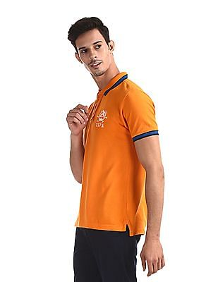 U.S. Polo Assn. Orange Tipped Pique Polo Shirt