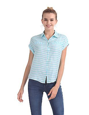 Flying Machine Women Regular Fit Check Shirt