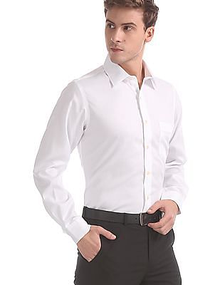 Arrow White Supima Cotton Solid Shirt