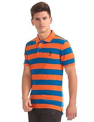U.S. Polo Assn. Striped Slim Fit Polo Shirt