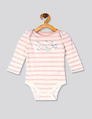 GAP Pink Baby Logo Bodysuit