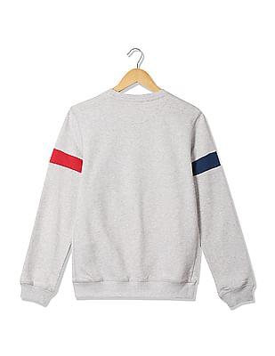 U.S. Polo Assn. Kids Boys Appliqued Front Cotton Sweatshirt