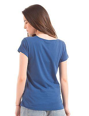 U.S. Polo Assn. Women Regular Fit Round Neck T-Shirt