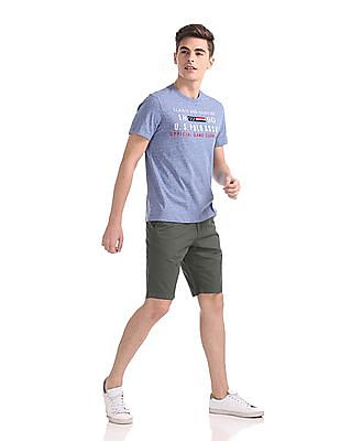 U.S. Polo Assn. Slim Fit Solid Shorts