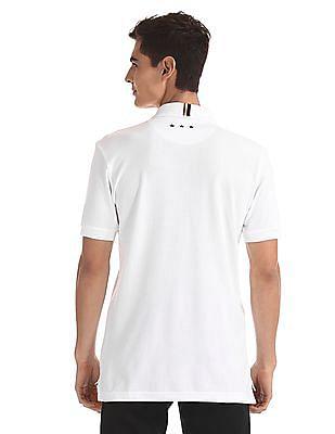 U.S. Polo Assn. White Brand Embroidered Pique Polo Shirt