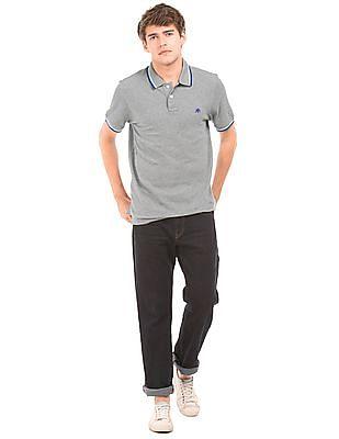 Aeropostale Solid Cotton Polo Shirt