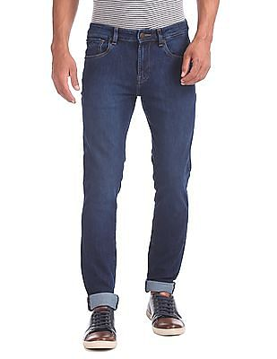 Arrow Sports Skinny Fit Dark Wash Jeans