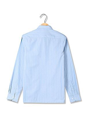 Excalibur Striped Pattern Long Sleeve Shirt