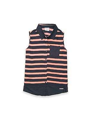 Cherokee Girls Striped Sleeveless Tunic