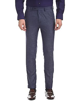 Arrow Newyork Super Slim Fit Patterned Check Trousers