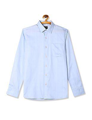 Arrow Blue Slim Fit Check Shirt
