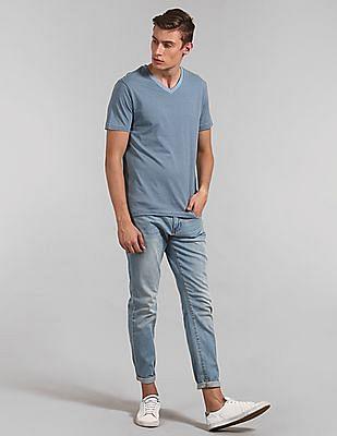 GAP Essential Stripe Short Sleeve V-Neck T-Shirt