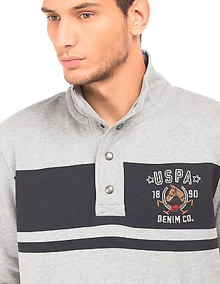 U.S. Polo Assn. Denim Co. High Neck Muscle Fit Sweatshirt
