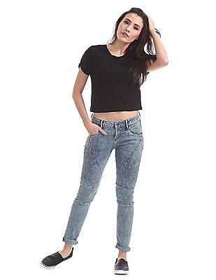 EdHardy Women Skinny Fit Studded Jeans