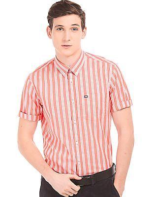 Arrow Sports Striped Regular Fit Shirt