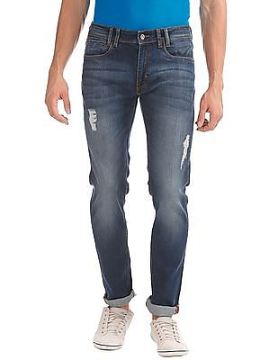Izod Skinny Fit Distressed Jeans