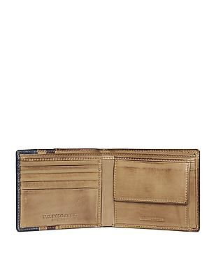 U.S. Polo Assn. Contrast Panel Leather Wallet