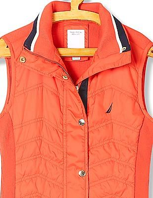 Nautica Zip Up Quilted Gilet Jacket