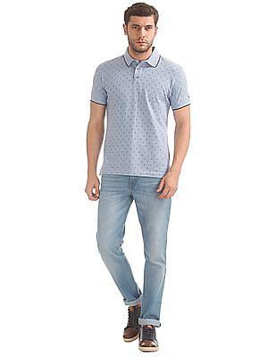 Izod Slim Fit Printed Polo Shirt